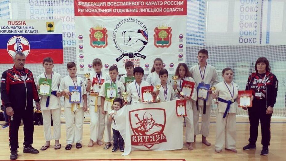 Верхнехавские каратисты завоевали 5 золотых медалей на открытом Кубке Липецкой области