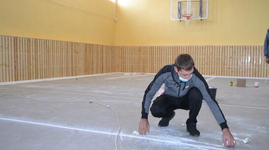 В школе калачеевского села Новая Криуша отремонтировали спортзал