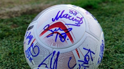 Воронежский «Факел» провел благотворительный аукцион для покупки мячей юным футболистам