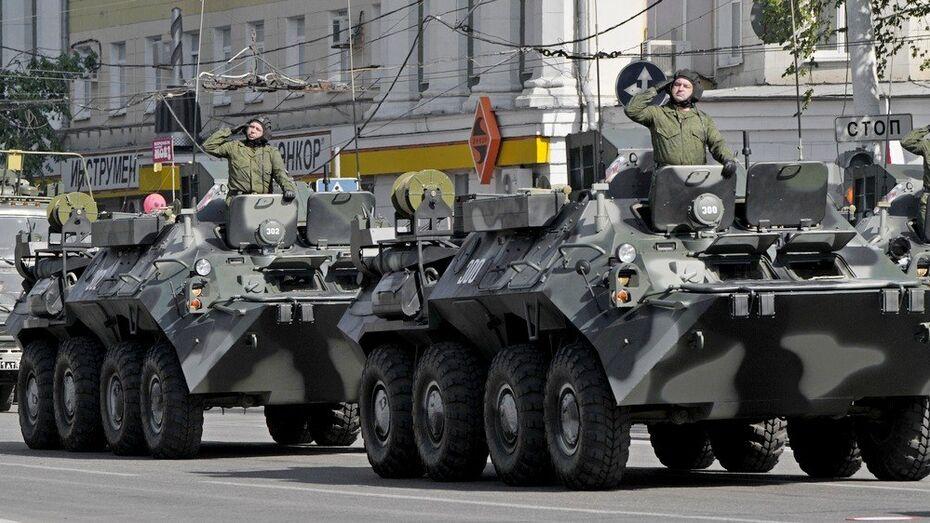 Военная техника для участия в параде Победы прибыла в Воронеж