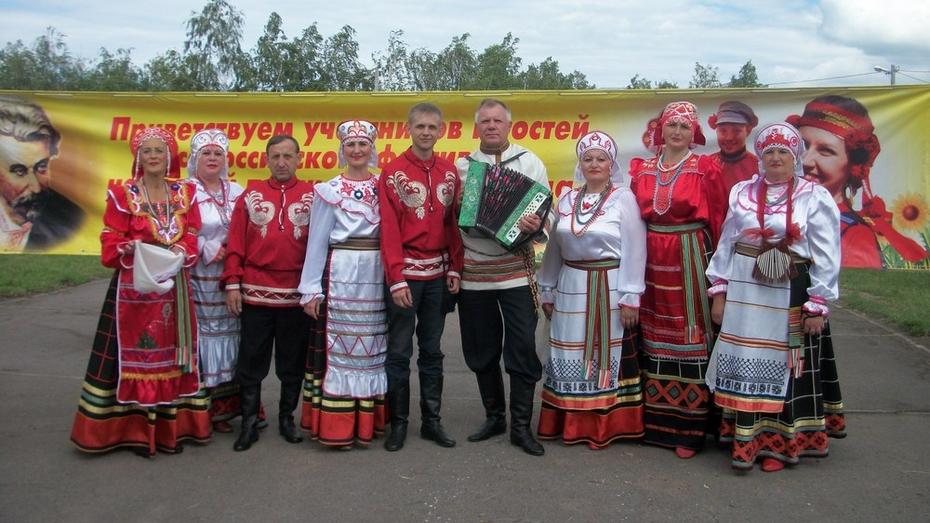 Хохольские ансамбли стали призерами областного фестиваля патриотической песни