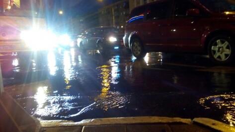 В Воронеже канализация затопила улицу Героев Стратосферы из-за смытой тряпки