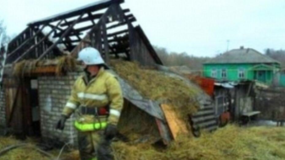 В Россошанском районе 8-летняя девочка из шалости подожгла 9 т сена