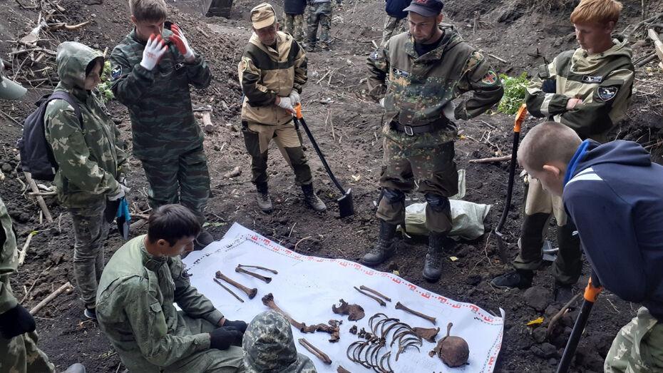 Останки 34 человек обнаружили поисковики в Воронежской области