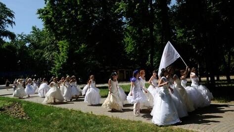 В Воронеже участницы парада невест прошли по проспекту Революции под песни Сердючки и Глюкозы (ФОТО)