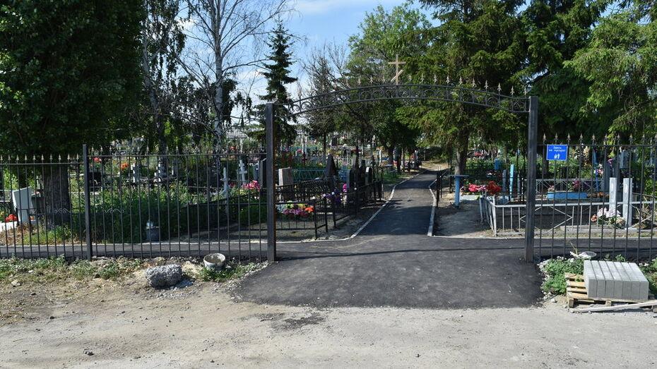 В нижнедевицком селе Кучугуры активисты благоустроили кладбище
