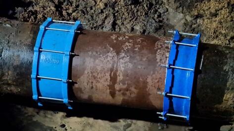 Устранили прорыв трубопровода на улице Беговой в Воронеже