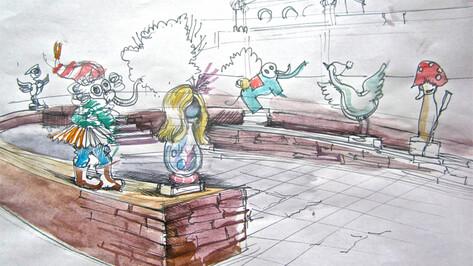 Воронежский художник Иван Горшков представил свое видение памятника царям российской культуры