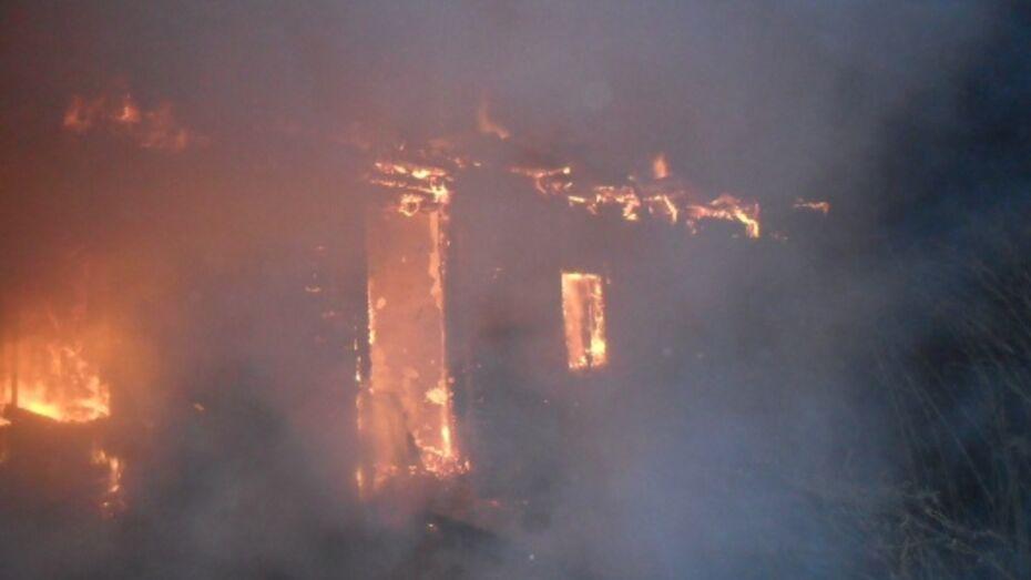 В Нижнедевицком районе неизвестные подожгли дом