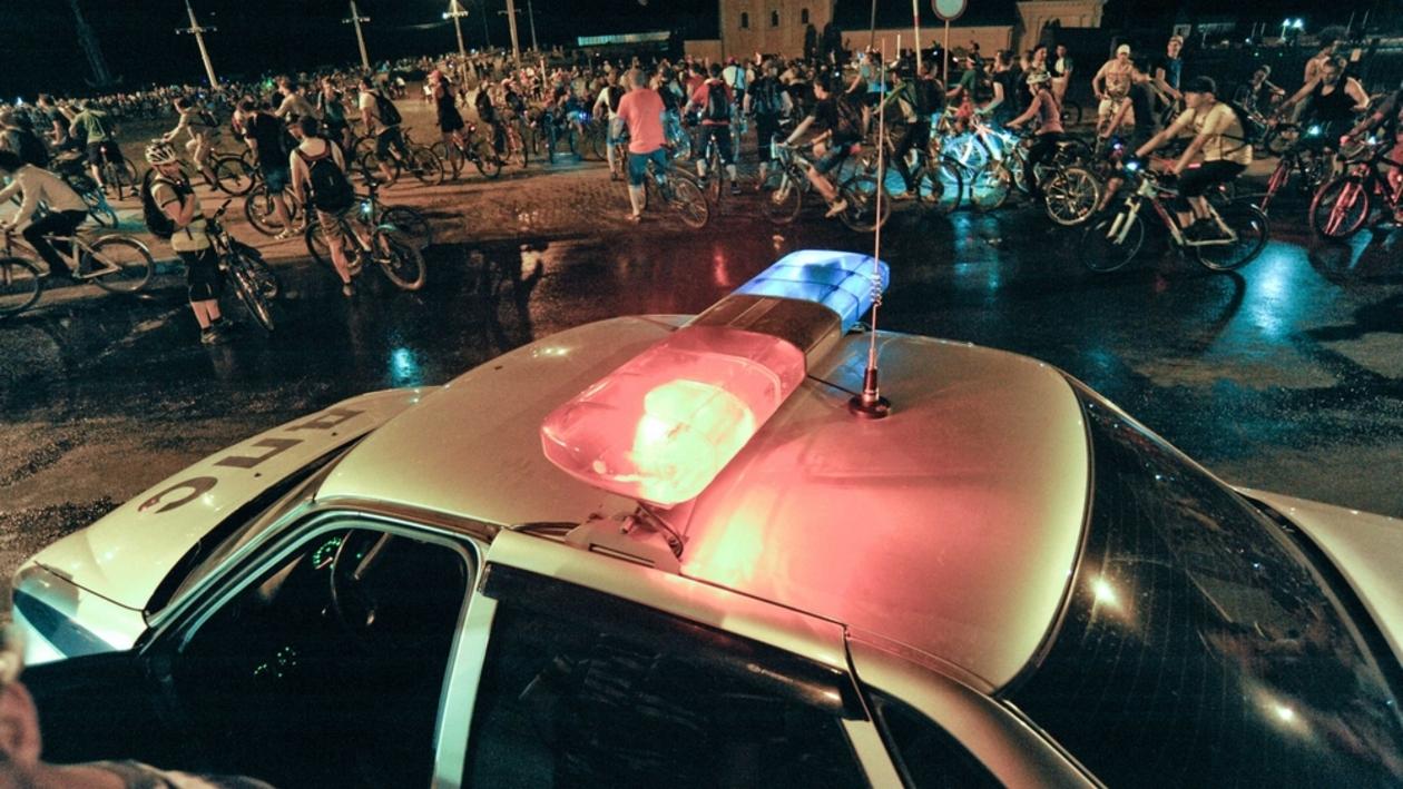 Участники Велоночи спровоцировали огромную пробку в центре Воронежа