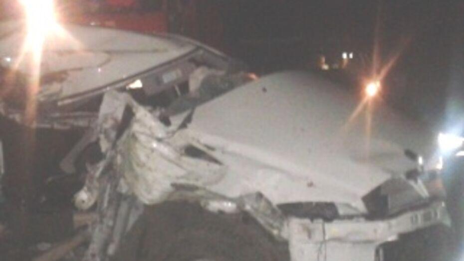 В Воронежской области погибли два пассажира врезавшейся в дерево иномарки