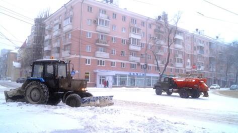 За ночь в Воронеже коммунальщики израсходовали 869 т песко-соляной смеси