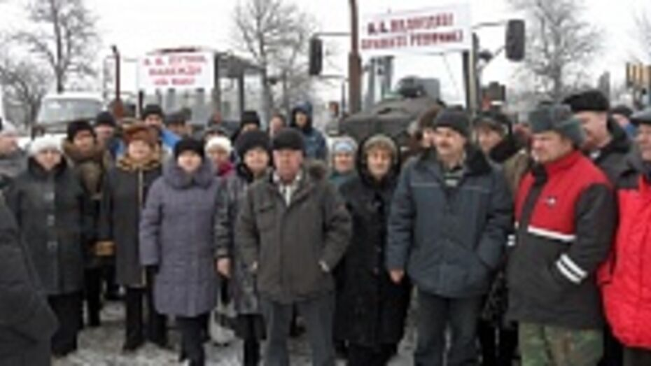 В Рамонском районе жители двух поселений провели пикет вблизи трассы «Дон»