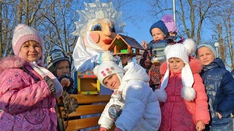 В Бутурлиновском городском парке открыли «кафе для птиц»