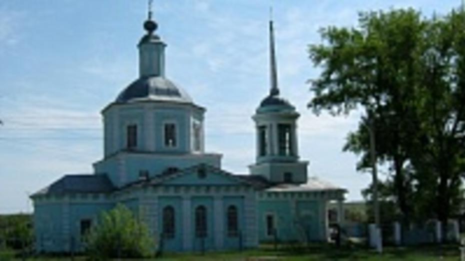 В репьевском селе Колбино началась реставрация храма 1786 года постройки
