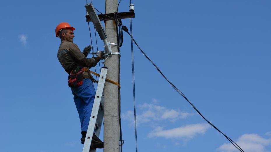 В двух поселениях Нижнедевицкого района модернизируют уличное освещение