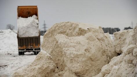Экологи нашли незаконные свалки снега на льду Воронежского водохранилища