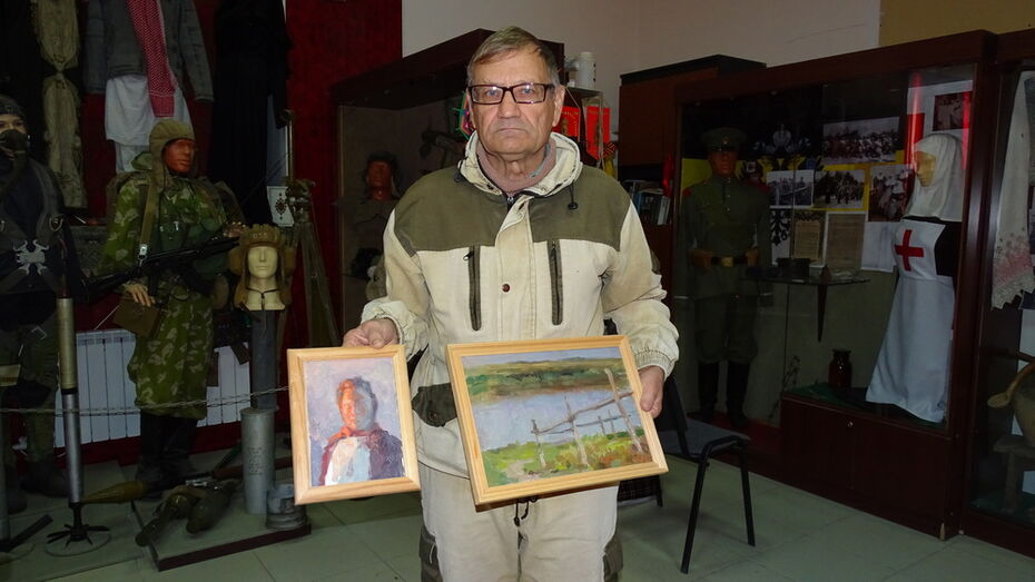 Хохольскому музею подарили 46 картин воронежского художника