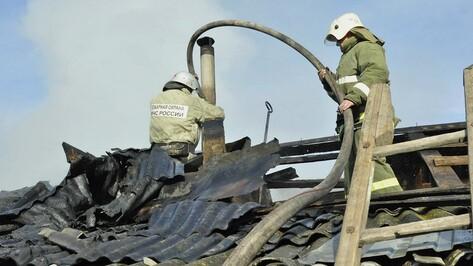 Квартирант получил ожоги на крупном пожаре в воронежском Сомово