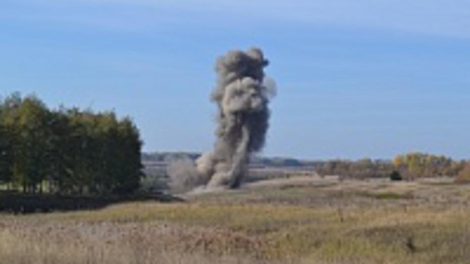 В Воронежской области подрывники уничтожили 61 снаряд весом 2,5 тонны