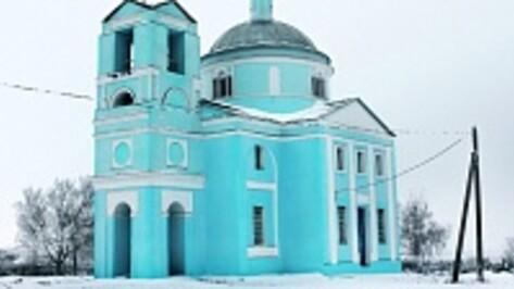 В панинском селе завершен ремонт фасада церкви с более чем двухвековой историей