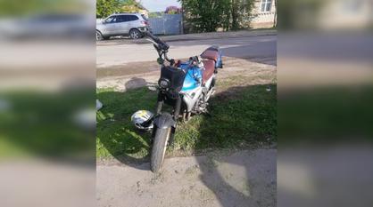 Подросток-мотоциклист протаранил иномарку в Воронежской области