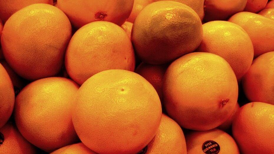 Россельхознадзор запретил доставку в Воронеж 57,6 т грейпфрутов из Сирии