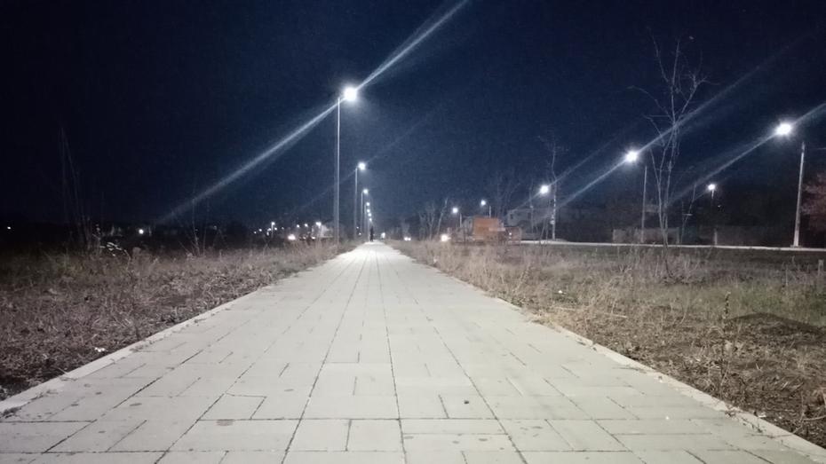 Уличное освещение от рынка до поселка Солнечный сделали в Павловске