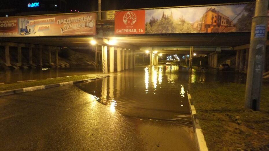 Воронежские спасатели получили 11 заявок о подтоплениях после непогоды