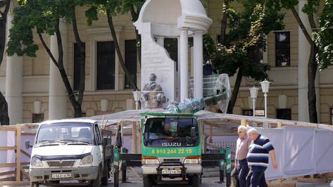 Из-за расширения Воронежского театра оперы и балета сквер имени Пушкина перестроят