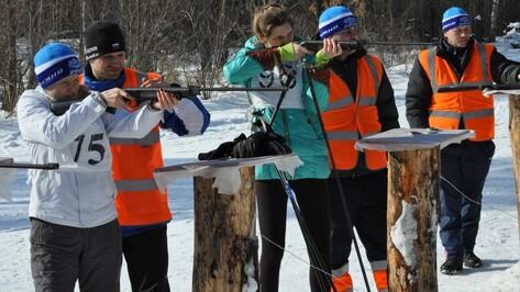 В Репьевке впервые прошли соревнования по биатлону