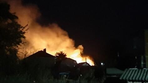 Под Воронежем спасатели ликвидировали разгоревшийся у жилых домов ландшафтный пожар