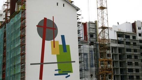 Стены многоэтажек под Воронежем расписали квадратами Малевича