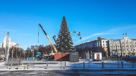 В Воронеже начали демонтаж новогодней елки