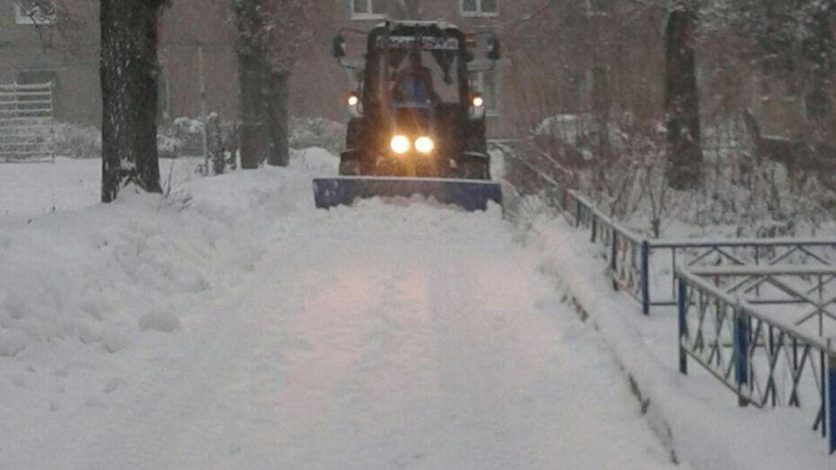 Администрация рассказала об уборке снега в Воронеже после метели 25 декабря