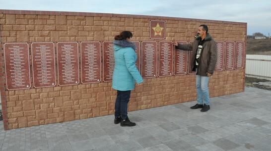 В эртильском селе Александровка активисты установили новый памятник воинам-землякам