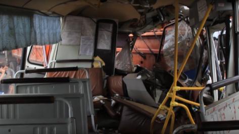 Спасатели опубликовали видео последствий ДТП с «ПАЗом» и «КАМАЗом»