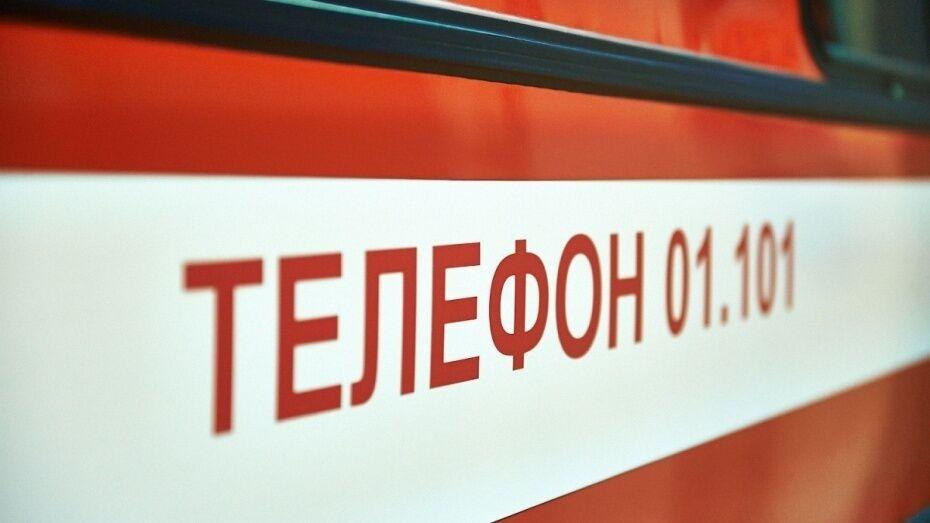 Пожар в центре Воронежа попал на видео