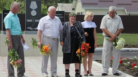 В Новохоперском районе открыли памятный знак труженикам тыла