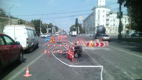 В Воронеже до середины сентября ограничили проезд у ДК Кирова