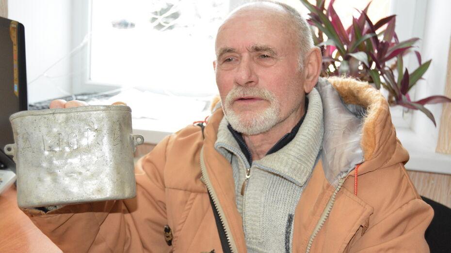 Житель Воронежской области передаст в Италию солдатский котелок