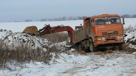 В Рамонском районе пресечена незаконная добыча песка
