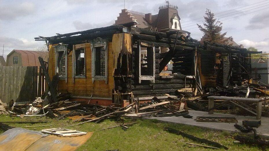 В Воронежской области при пожаре погиб дачник из Санкт-Петербурга