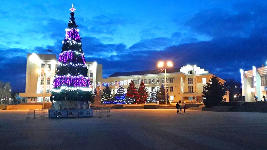 Открытие городской елки в Лисках впервые пройдет онлайн