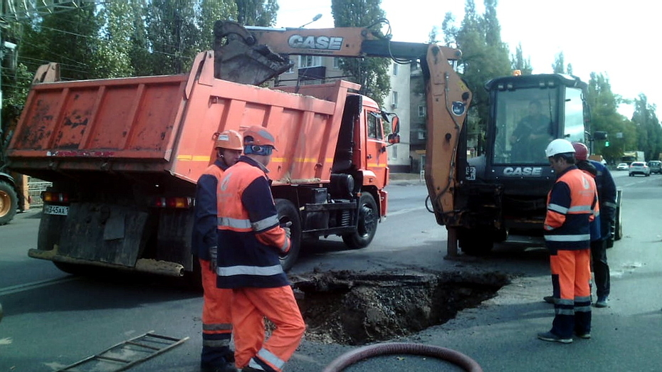 Авария оставила без воды несколько улиц в Левобережном районе Воронежа
