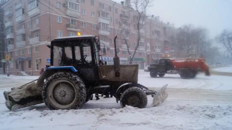 Коммунальщики перекроют часть центра Воронежа из-за массового вывоза снега
