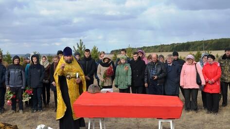 В Верхнемамонском районе перезахоронили останки 5 советских воинов