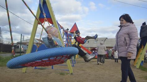 В новоусманском селе Бабяково построили игровую площадку за 1,2 млн рублей
