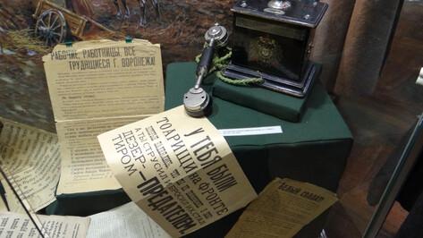 В Воронежском краеведческом на полгода открылась выставка о Гражданской войне