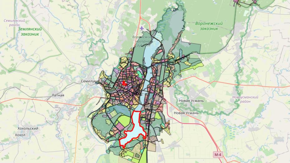 Проект генплана Воронежа появился на интерактивной карте
